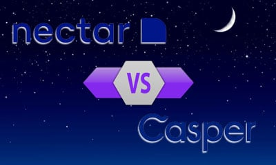 Nectar VS Casper and Mood and Stars Background