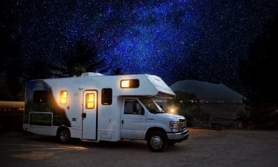 RV Under a Starry Night