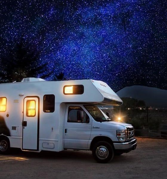 RV Under a Starry Night