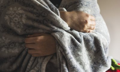 Woman with a Gray Blanket