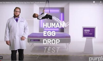 Purple Mattress Human Egg Drop Test