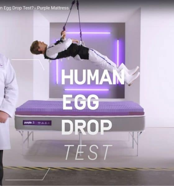 Purple Mattress Human Egg Drop Test