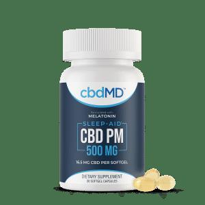 cbdMD PM CBD capsules
